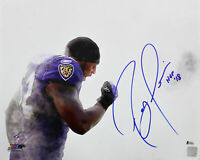 "Ravens Ray Lewis ""HOF 18"" Authentic Signed 16x20 Photo Autographed BAS Witnessed"