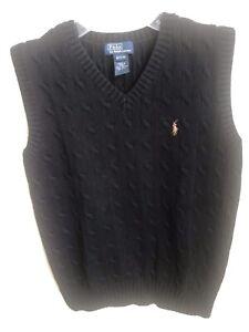 Boys - Polo By Ralph Lauren - NWOT - Sleeveless Sweater - Black - Size M (12/14)