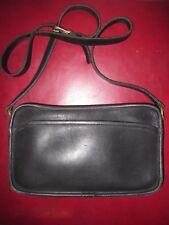 Vintage COACH Purse Black Leather Brass Crossbody Shoulder Rectangle 9974 USA