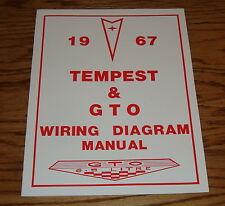 1967 Pontiac Tempest & GTO Wiring Diagram Manual 67
