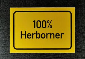 Aufkleber Ortschild 100 % Herborner