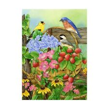 "SUMMER BLISS 12.5"" X 18"" GARDEN FLAG 11-1694-136 RAIN OR SHINE SUMMER SEASONAL"