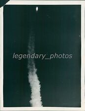 1958 Atlas Missile Launched, Growing Distant Original News Service Photo
