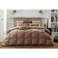 Snowman Luxury King Bed Goose Down Comforter Natural Egyptian Cotton-EXTRA WARM