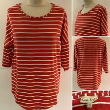 Preloved - Phase Eight Red & White Striped Top - Sz 10