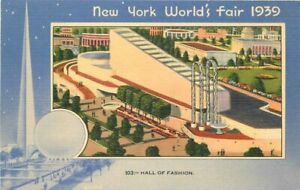 Hall of Fashion #103 New York World's Fair 1939 Postcard 21-1821
