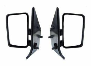 Fiat Ducato 1994-1998 Door Mirror Manual Black Short Arm Pair Left & Right