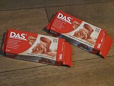 2 X DAS AIR DRYING MODELLING CLAY  2 X 500g - TERRACOTTA