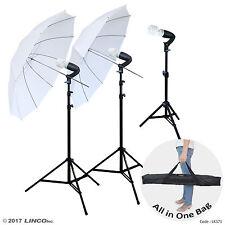 LINCO Lincostore Photography Studio Lighting Kit Photo Umbrella Bulb Stand LK371