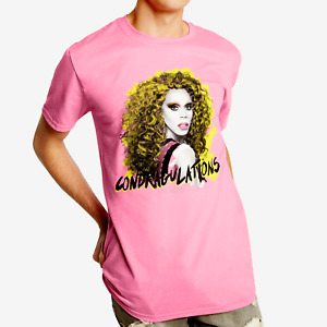 Official RuPauls Drag Race Condragulations Mens Large Pink Shirt Gay Pride Queen