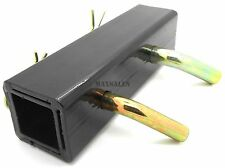 """Trailer Hitch Reducer Adapter 2"""" X 1-1/4"""" Receiver Tow Towing W/ 1/2"""" & 5/8"""" PIN"""