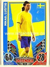 Match Attax Euro EM 2012 - #170 Mikael Lustig - Schweden