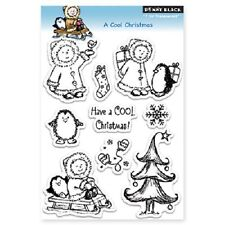 PENNY BLACK RUBBER STAMPS CLEAR A COOL CHRISTMAS STAMP SET