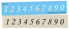 Numbers Stencil 1 inch tall Monotype Corsiva font Country Primitive Craft signs