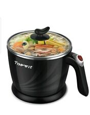 NEW Topwit Electric Hot Pot Mini, 1.2 Liter Electric Cooker, Noodles Cooker,