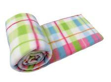 De lujo del bebé infantil cuna manta de Cochecito Extrasuave Tartan Cuadros Verde Rojo 75 X 100cm
