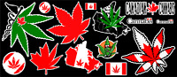 Canada Weed Marijuana Cannabis Vinyl Stickers