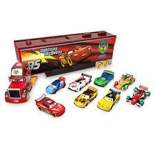 Disney Store Cars Carnival Mack Semi Truck Carrier 9pc Set Lightning McQueen