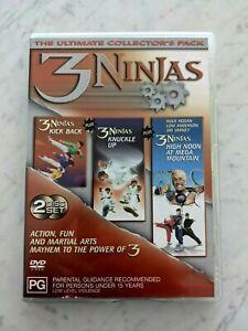 3 Ninjas Trilogy: Kick Back Knuckle Up High Noon At Mega Mountain - Region 4 DVD