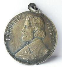 Médaille à Antoine-Frédéric Ozanam catholique c1920 A J Corbierre 22mm Medal