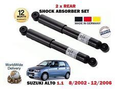 FOR SUZUKI ALTO 1.1 63 BHP 8/2002-12/2006 NEW 2 X REAR SHOCK ABSORBER SET