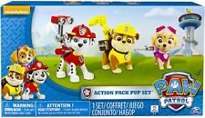 Paw Patrol Action Pack Pups Skye Marshall Rubble Set of 3
