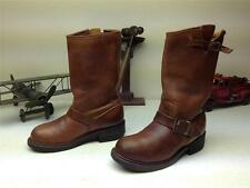 VINTAGE USA CAROLINA BROWN LEATHER BLUE BIRD ENGINEER MOTOCYCLE BOOTS SIZE 7 R