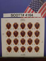 SCOTT # 4164-PURPLE HEART-THE MEDAL FOR THE WOUNDED-SHEET OF (20) 41 CENT STAMPS