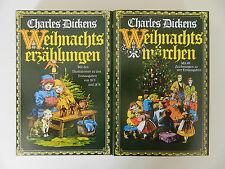 2 Bände Charles Dickens Weihnachtserzählungen Weihnachtsmärchen