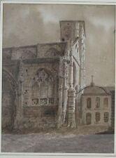 Dessin original église Saint-André-de-la-Ville ou de-la-Porte-aux-Fèvres Rouen