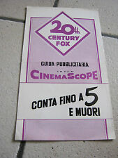 BROCHURE,1957, Conta fino a 5 e muori,Count Five and Die.Patrick Hunter