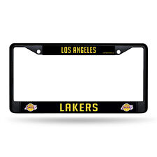 Los Angeles LA Lakers NBA Black Metal License Plate Frame