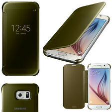 Samsung Galaxy S6 GOLD CLEAR VIEW COVER OFFICIAL ZG920BFEG SM-G920F RETAIL BOX