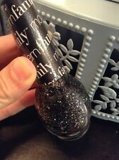 Nicole OPI Nail Polish #NI-F10 Luke Of The Draw Modern Family Black Glitter
