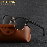 KEITHION Vintage Outdoor Shades Women Mens Retro Round Polarized Sunglasses