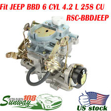 2-Barrel Jeep Wrangler Carburetor BBD Carb 6 CYL 4.2L 258CU Engine AMC CJ Type