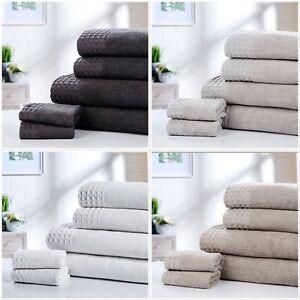 Rapport 100% Cotton Retreat 6pc Towel Bundle Face Cloths Hand Towels Bath Towels