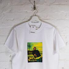 Ice Cube Hip Hop N.W.A.Gangsta Rap Easy-E Dr Dre Mc Ren White Tee T-shirt by AF