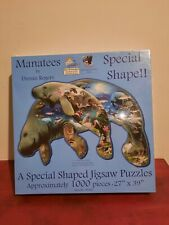 New Special Shaped Jigsaw Puzzle Manatees By Dennis Rogers 1000 Pieces
