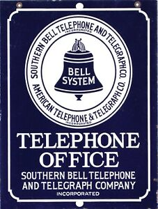 Vintage Retro Reproduction Southern Bell Telephone Aluminum Tin Sign 9x12