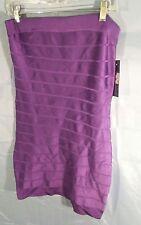 French Connection Sleeveless Tube Top Bandage Dress Purple sz 12 NWT