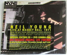 NEIL YOUNG - LIVE AT MASSEY HALL 1971 - CD + DVD Sigillato Special Edition