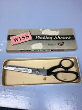 Vintage Wiss Pinking Shears Model A Made in USA with Original Box