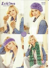STYLECRAFT ESKIMO EASY KNIT DOUBLE KNTTING PATTERN,LADIES,SCARF, HAT, MITTENS