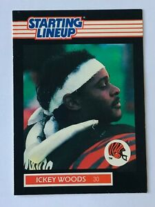 1989 ICKEY WOODS CINCINNATI BENGALS STARTING LINEUP CARD