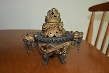 Chinese Antique bronze Incense Burner and lid