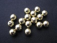 15 Perline Acrilico Rotondo Oro colorate 10mm PERLE NUOVO 10262