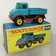 Matchbox Lesney Mercedes Unimog 49 In Original Box 49 VNMIB