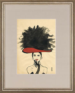 Rene Gruau - old watercolor !!! GREAT PIECE !!!