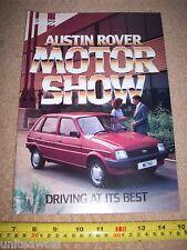 Austin Rover Motor Show Magazine 1984 CAR Maestro Montego Metro MG Rover Mini BL